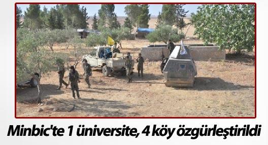 Minbic'te 1 üniversite, 4 köy özgürleştirildi