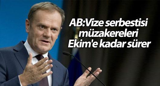 AB:Vize serbestisi müzakereleri Ekim'e kadar sürer