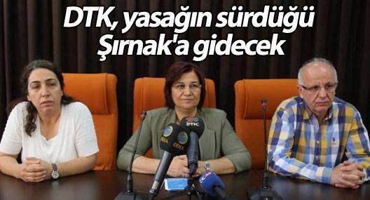 DTK, yasağın sürdüğü Şırnak'a gidecek