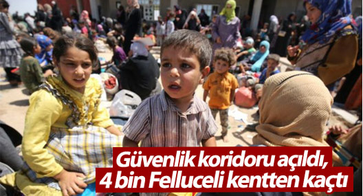 Güvenlik koridoru açıldı, 4 bin Felluceli kentten kaçtı
