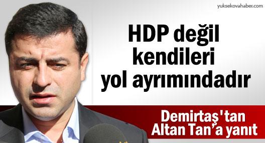 Demirtaş'tan Altan Tan'a: HDP değil kendileri yol ayrımındadır