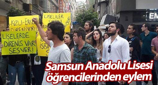 Samsun Anadolu Lisesi öğrencilerinden eylem