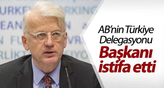 AB'nin Türkiye Delegasyonu Başkanı istifa etti
