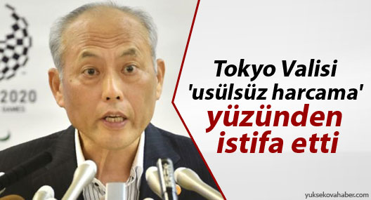 Tokyo Valisi 'usülsüz harcama' yüzünden istifa etti