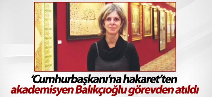 'Cumhurbaşkanı'na hakaret'ten akademisyen Balıkçıoğlu görevden atıldı