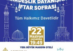 Kardeş belediye Artuklu'da iftar sofrası kuracak