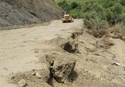 Esendere'de yağış heyelana neden oldu