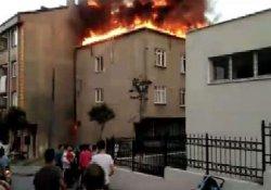Bağcılar'da korkutan yangın