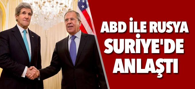 ABD ile Rusya Suriye'de anlaştı