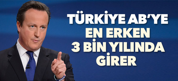 'Türkiye AB'ye en erken 3 bin yılında girer'