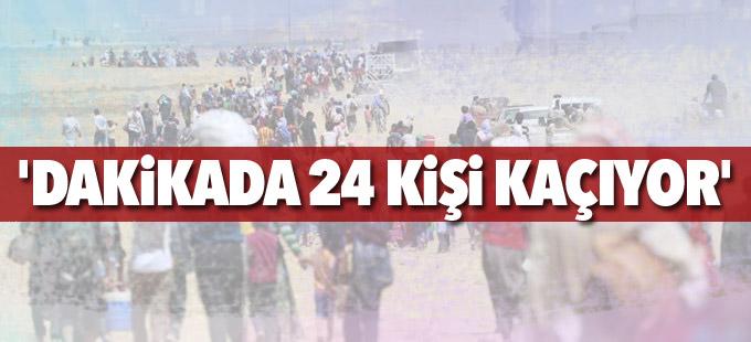 'Dakikada 24 kişi kaçıyor'
