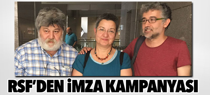 RSF Özgür Gündem nöbetçi editörleri için imza kampanyası başlattı