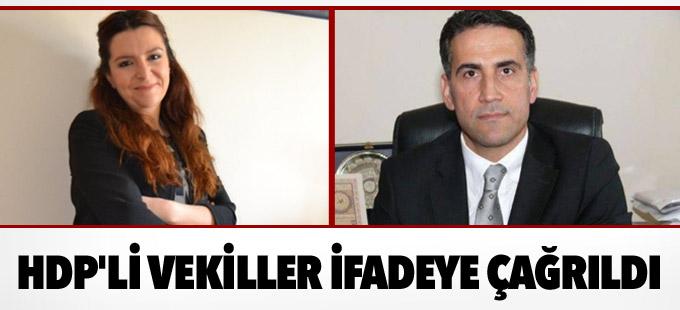 Savcı HDP'li milletvekillerini ifadeye çağırdı