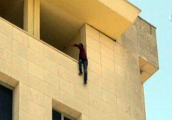 Adliye çatısında intihar girişimi