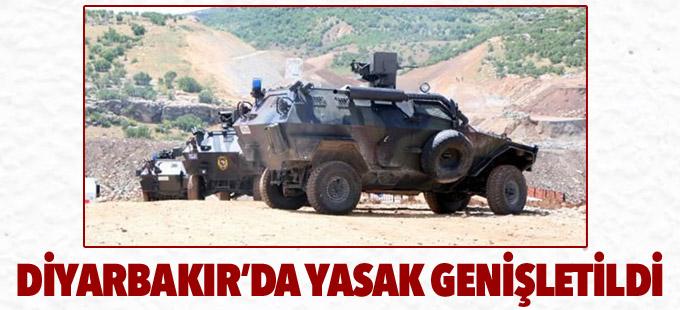 Diyarbakır'da sokağa çıkma yasağı genişletildi