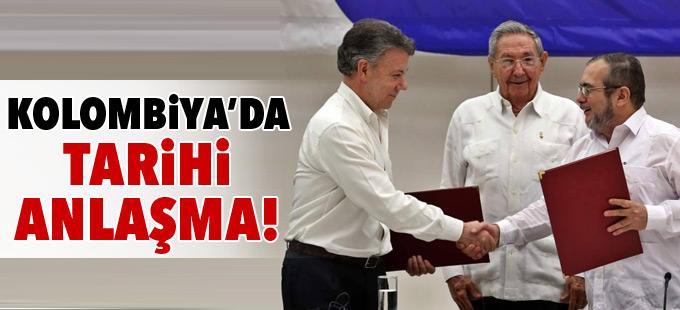 Kolombiya'da tarihi ateşkes anlaşması imzalandı