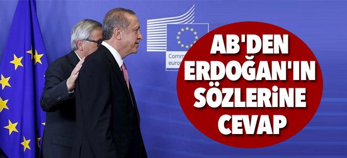AB'den Erdoğan'ın sözlerine cevap: Karar Türkiye'nin