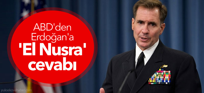 ABD'den Erdoğan'a 'El Nusra' cevabı