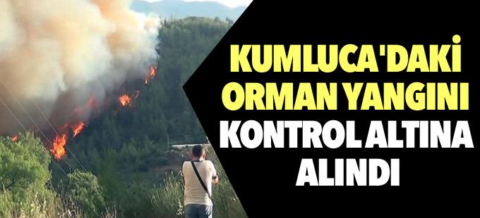 Kumluca'daki orman yangını kontrol altına alındı