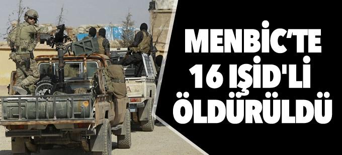 Menbic'in güney girişinde çatışmalar: 16 IŞİD'li öldürüldü