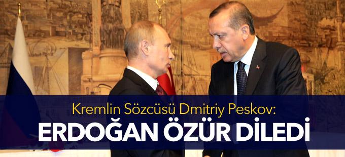 Kremlin: Erdoğan Putin'den özür diledi