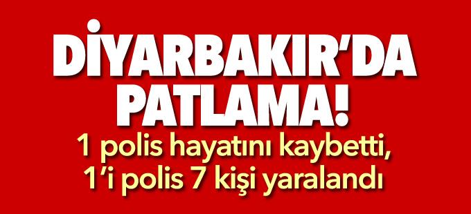 Diyarbakır'da polis aracının geçişi sırasında patlama:1 polis hayatını kaybetti