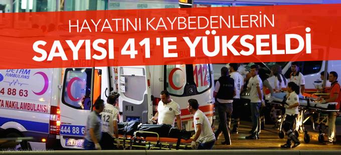 Saldırıda hayatını kaybedenlerin sayısı 41'e yükseldi!