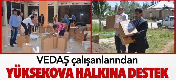 VEDAŞ çalışanlarından Yüksekova halkına destek