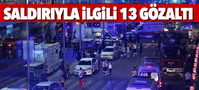 İstanbul'da saldırıya dair 13 gözaltı