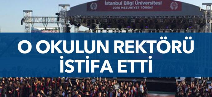 Öğrencilerin sırtını döndüğü Bilgi Üniversitesi Rektörü istifa etti