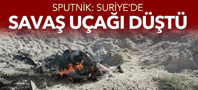 Sputnik: Suriye'de savaş uçağı düştü
