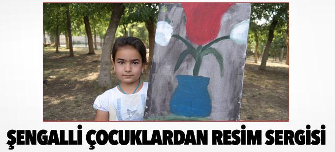 Şengalli çocukların resim ve fotoğraf sergisi açıldı