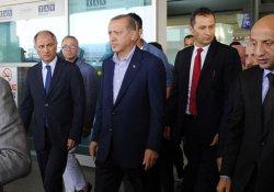 Cumhurbaşkanı Erdoğan saldırının olduğu yerde incelemelerde bulundu