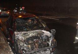 Bolu Dağı Tüneli'nde otomobil yandı, ulaşım 30 dakika aksadı