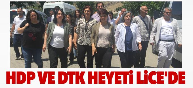 HDP ve DTK heyeti Lice'de