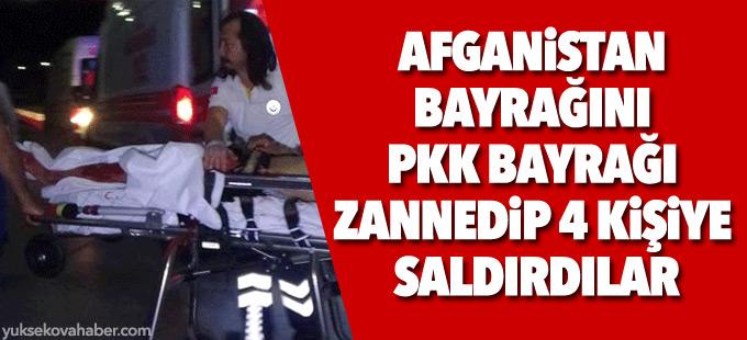 Afganistan bayrağını PKK bayrağı sanan grup 3 kişiyi bıçakla yaraladı