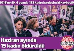 6 ayda 153 kadın, sadece Haziran ayında 15 kadın öldürüldü