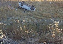 Bayramlaşmaya giderken otomobil takla attı: 6 yaralı