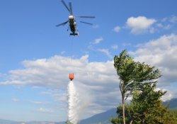 Yangın söndürme helikopteri hedefi şaşırınca...