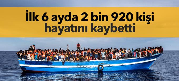 İlk 6 ayda 2 bin 920 kişi Avrupa'ya geçiş yolunda öldü