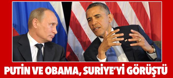 Putin ve Obama, Suriye'yi görüştü: Koordinasyonu artırmaya hazırız