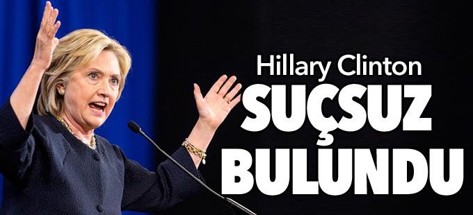 Clinton suçsuz bulundu