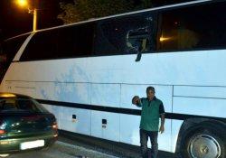 Turist otobüsünde biber gazı dehşeti