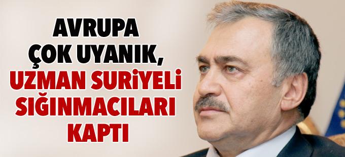 Eroğlu: Avrupa çok uyanık, uzman Suriyeli sığınmacıları kaptı