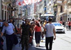 İstiklal'de özel harekatçılar devriye geziyor
