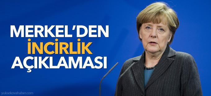 Merkel'den 'İncirlik' açıklaması: Vekillerimizin seyahati gerekli