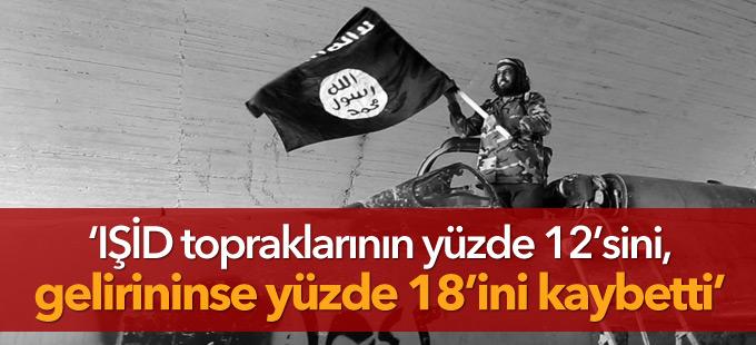 'IŞİD topraklarının yüzde 12'sini, gelirininse yüzde 18'ini kaybetti'