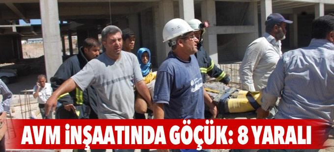 AVM inşaatında göçük: 8 yaralı