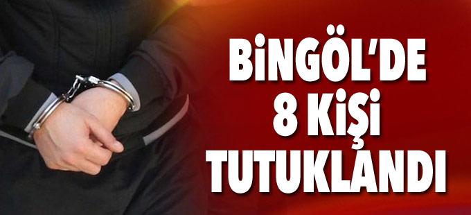 Bingöl'de 8 tutuklama