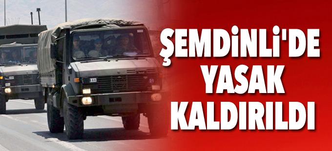 Şemdinli'de sokağa çıkma yasağı kaldırıldı